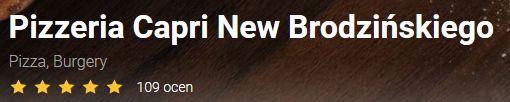 opinie capri new brodzińskiego pizzaportal